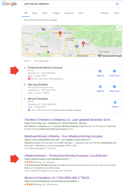 Google Result Page