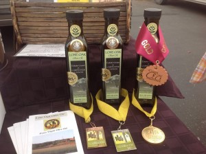 Gold medal, California Mid-State Fair, Central Coast Olive Oil Competition